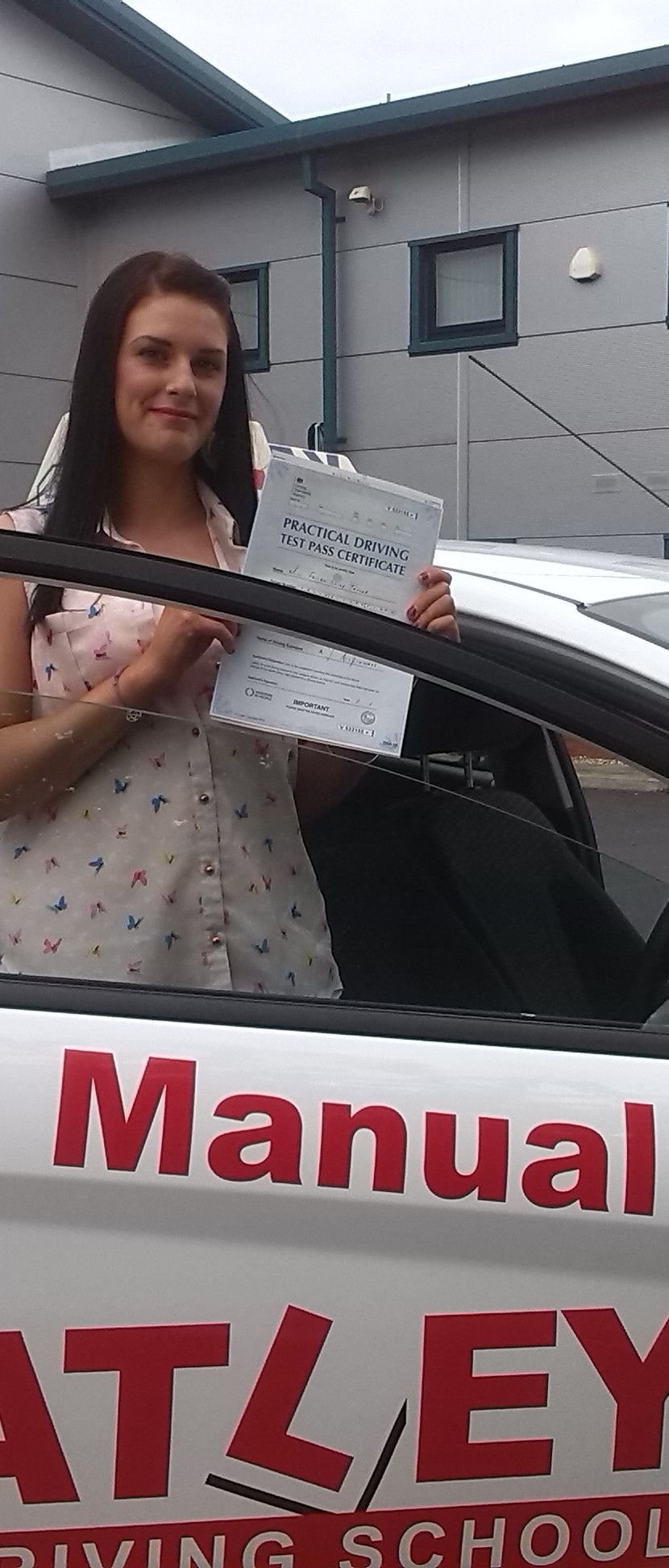 congratulations and very well done on passing your Driving Test